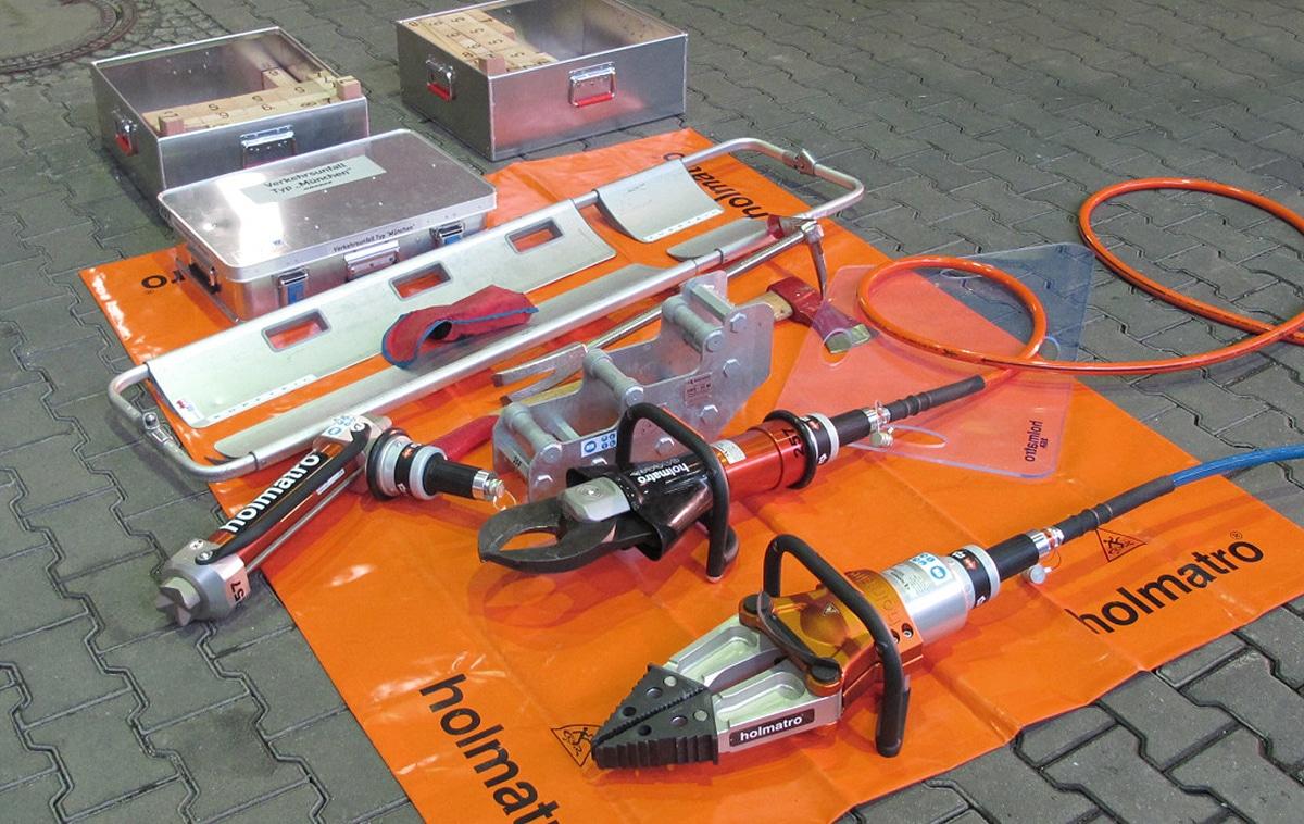 Hydraulischer Rettungssatz. Quelle: FF München, Abteilung Perlach