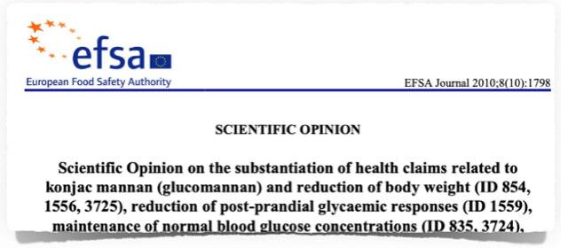 Glucomannan Test Europäische Behörde für Lebensmittelsicherheit EFSA Bewertung Test 2019 Glucomannan