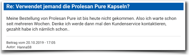 Prolesan Pure Kritik Bewertung Prolesan Pure