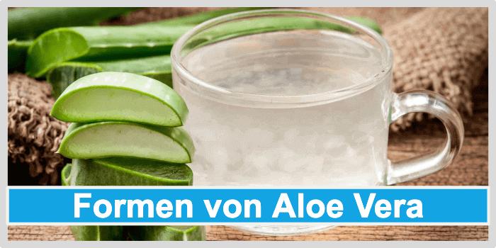 Aloe Vera Gel Formen