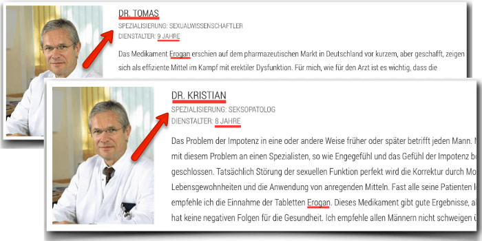 Erogan falsche Arztberichte