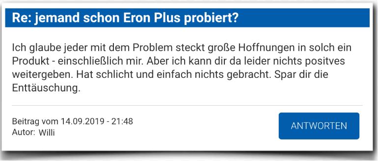 Eron Plus Erfahrungsbericht Bewertung Kritik Eron Plus