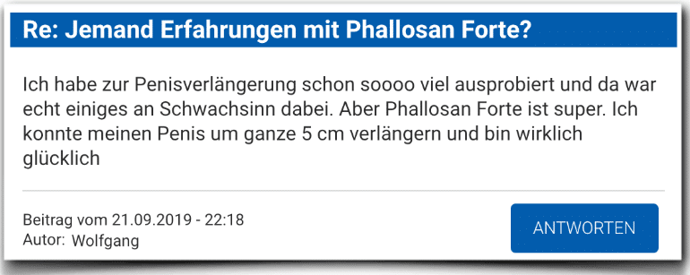 Phallosan Forte Bewertung Kritik Phallosan Forte