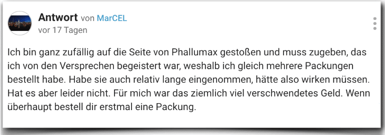 PhalluMAX Erfahrung Erfahrungen Erfahrungsbericht